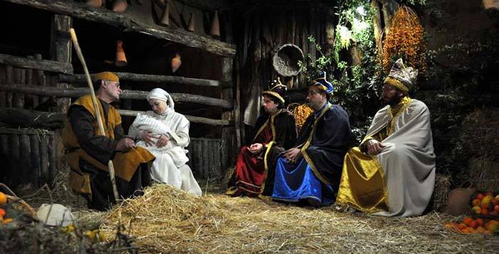 Live Nativity Scene in downtown Vicenza