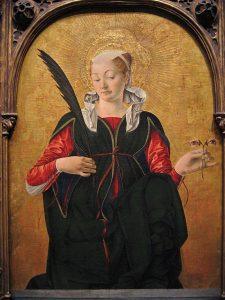 Saint Lucy, by Francesco del Cossa (c. 1430 – c. 1477)