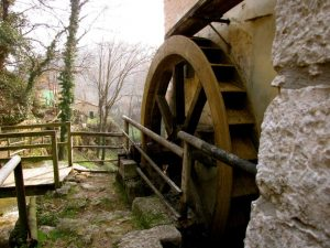 mill wooden wheel mossano valley of mills