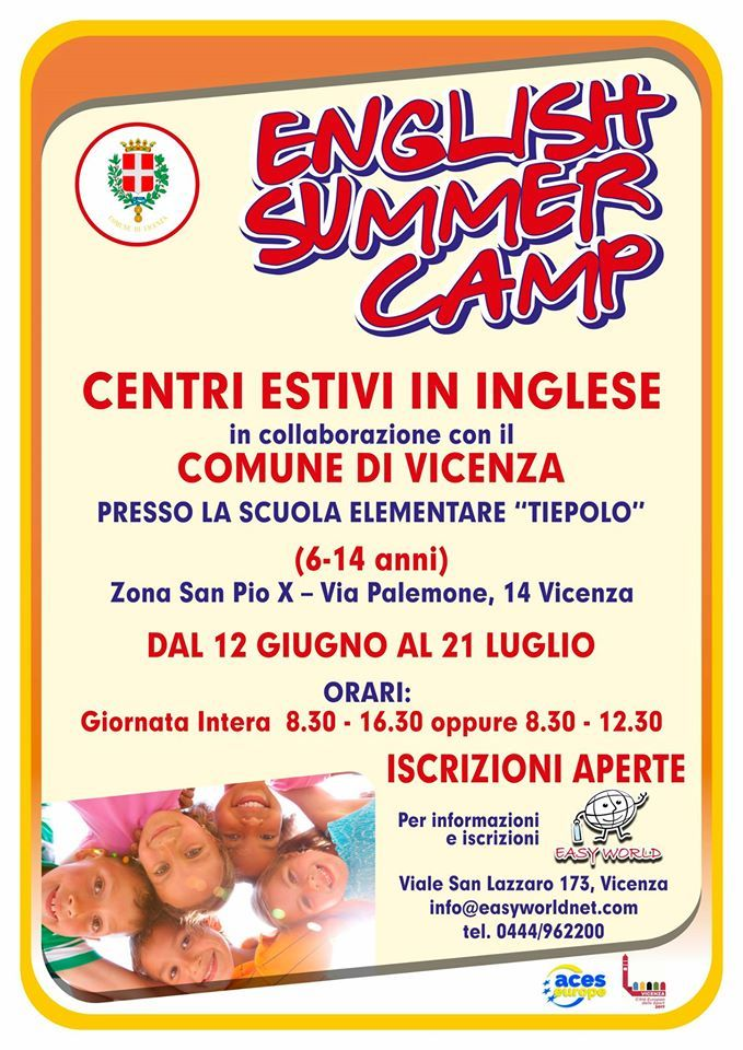 Bassano Tiepolo English Summer Camps