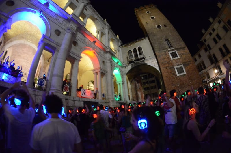 Silent Party downtown Vicenza – Christmas Edition