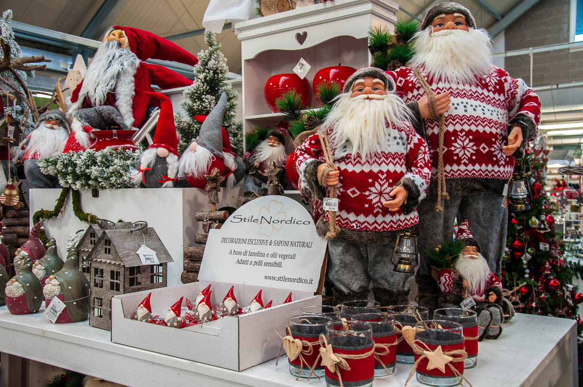 Christmas display with Santa Claus