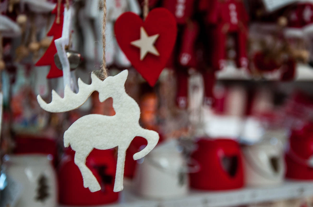 Christmas reindeer with a heart