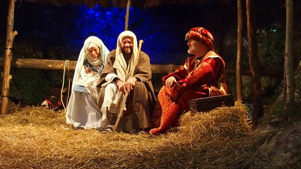 Live Nativity Scene in San Pietro in Gu