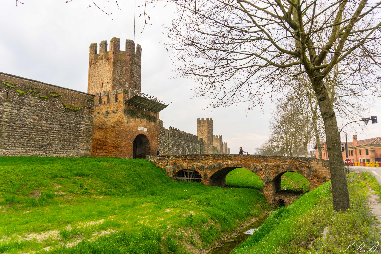 Walls of Montagnana, Province of Padova, Italy