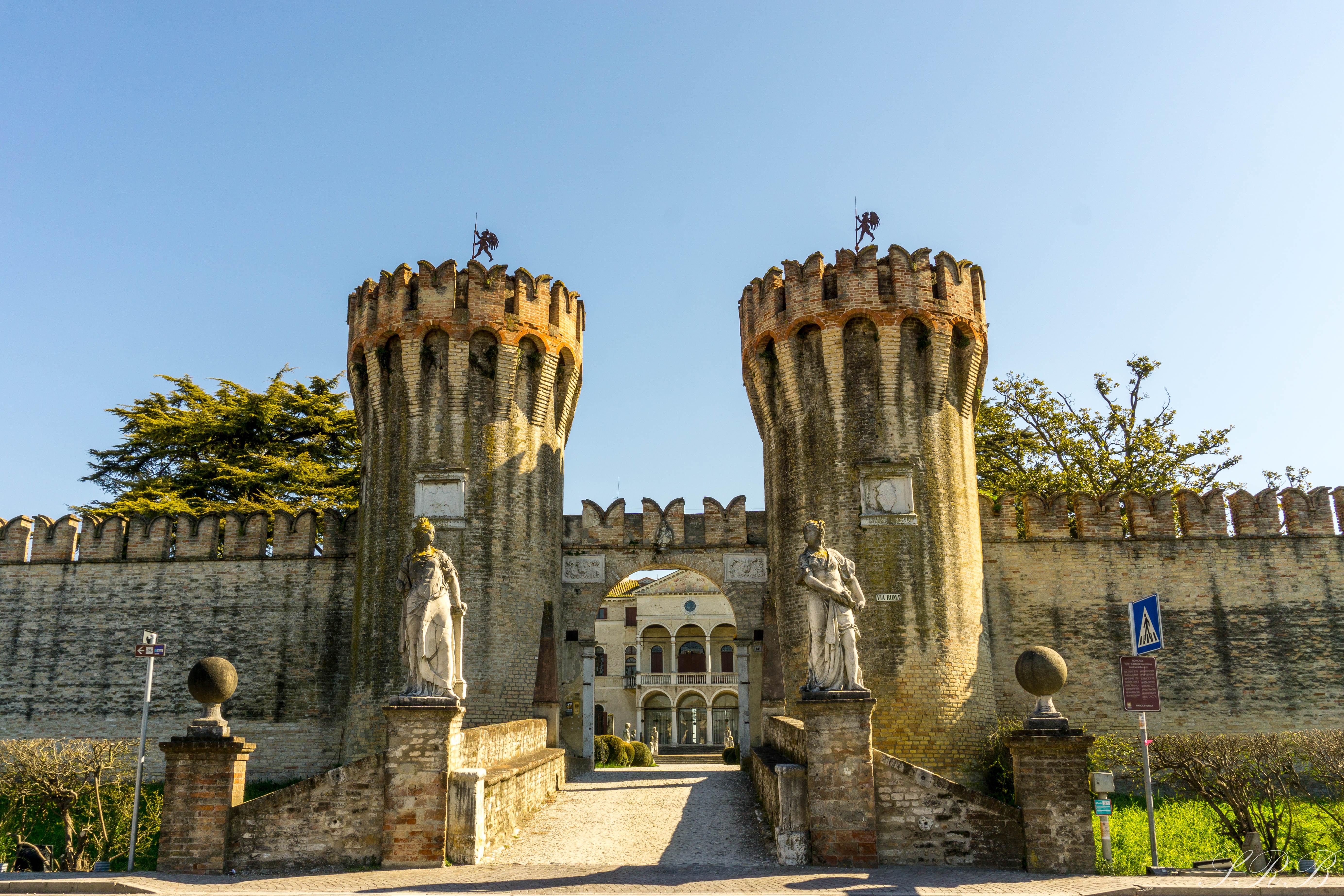 Entrance to Castello di Rocande, Province of Treviso, Italy