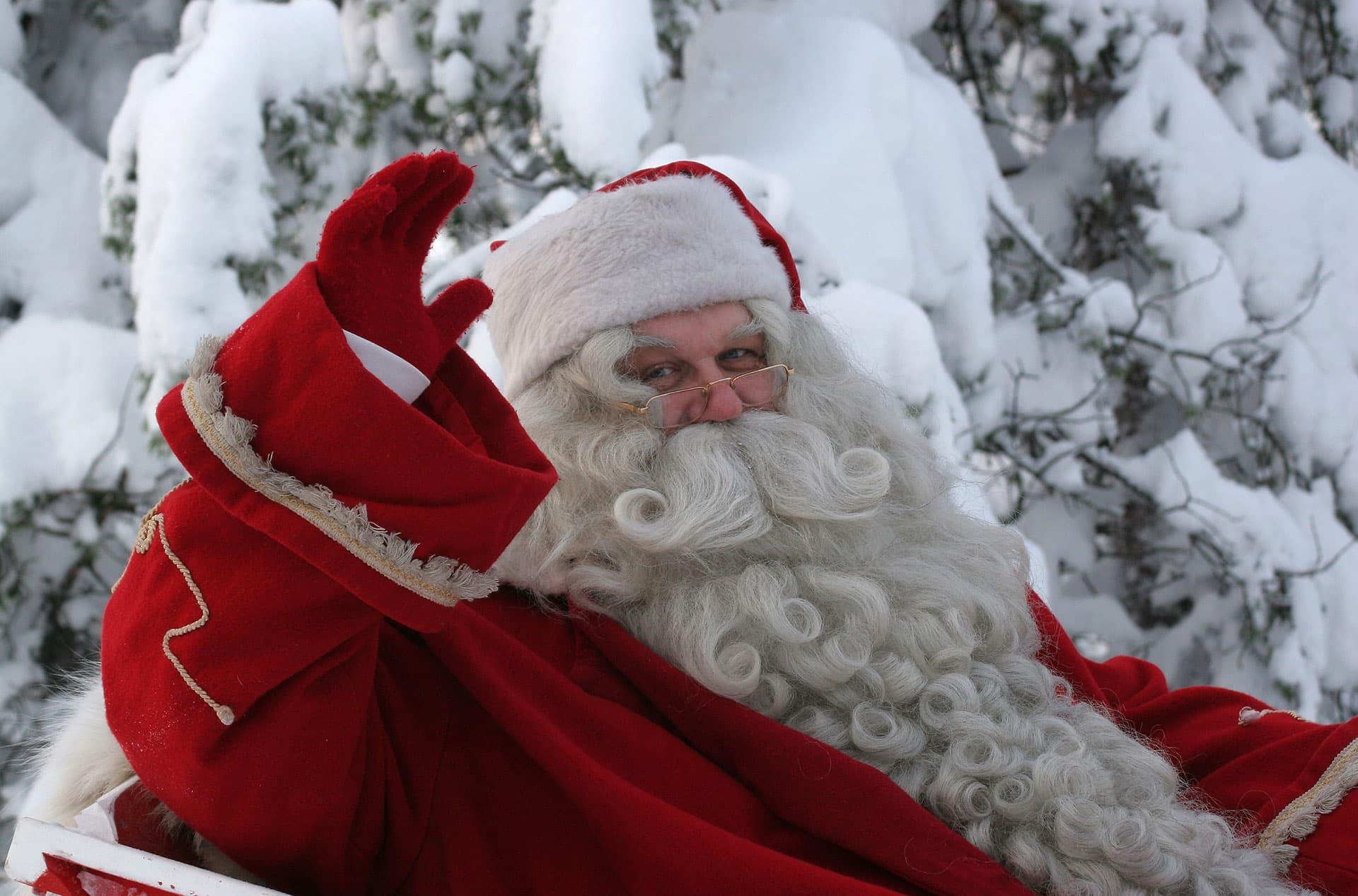 Santa Claus at the Farmers' Market