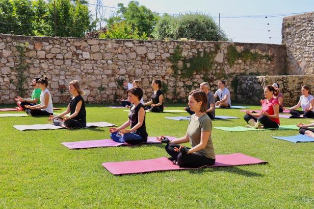 Yoga Class at the La Pria Winery