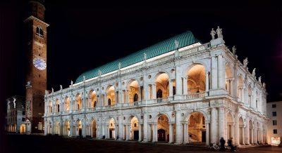 Palladian Basilica by night