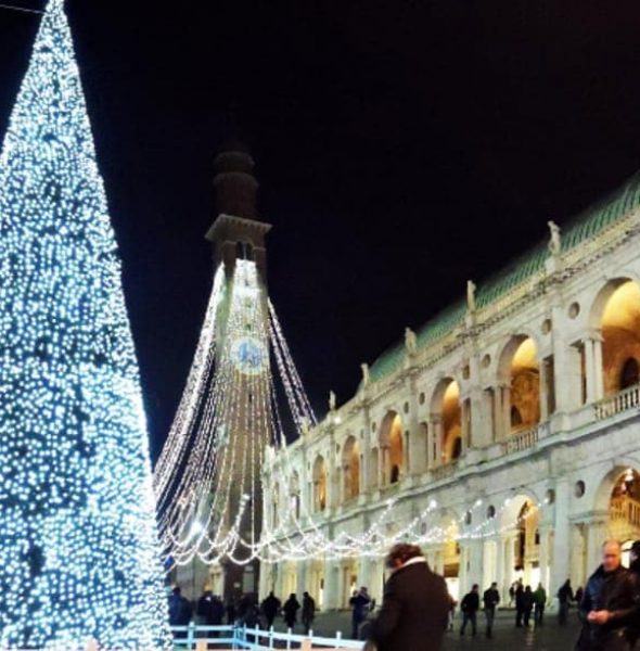 Christmas lighting ceremony in Vicenza