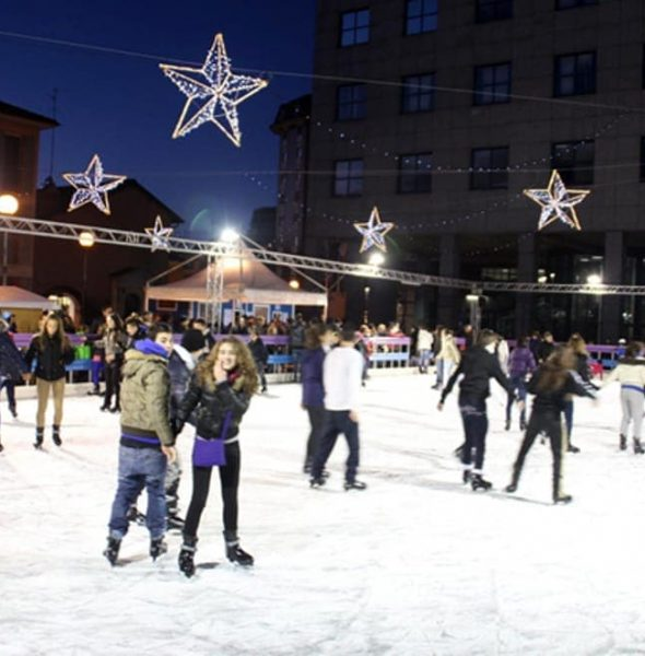 Ice skating Rink in downtown Vicenza