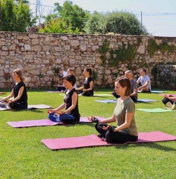 Yoga Class at La Pria Winery