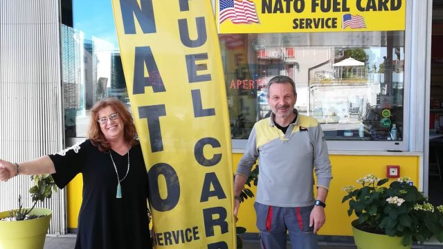 Frank & Donatella Eni Gas Station – NATO FUEL CARDS
